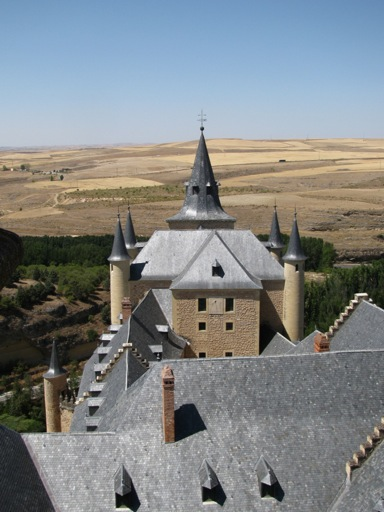 Alcazar of Segovia Forward View