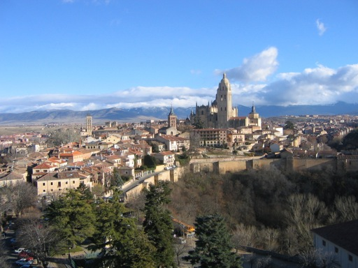 Alcazar of Segovia View onto City