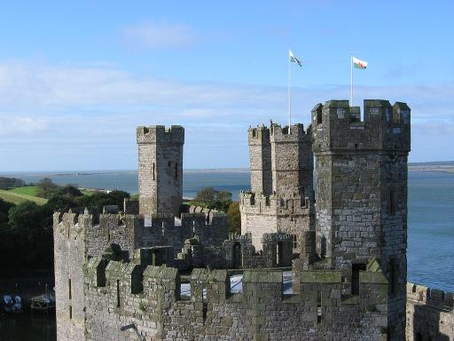 Caernarfon Castle Towers