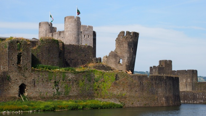 Caerphilly Castle angled tower