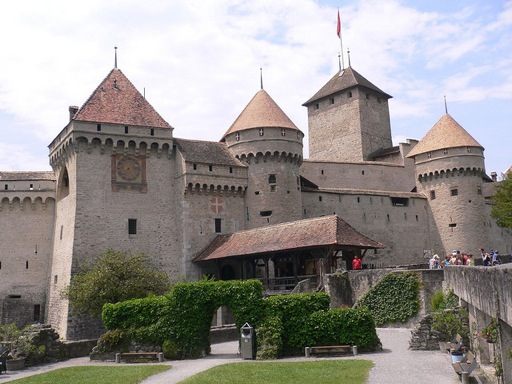 Chillon Castle Courtyard