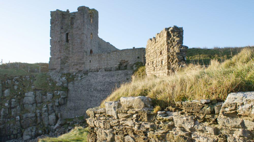 Dunstanburgh Castle curtain wall