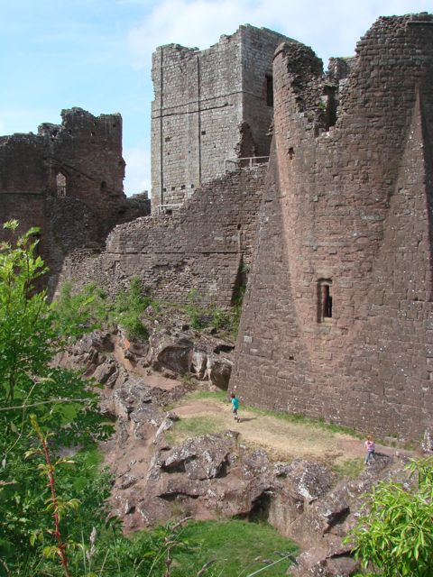 Goodrich Castle Tower and Keep Contrast