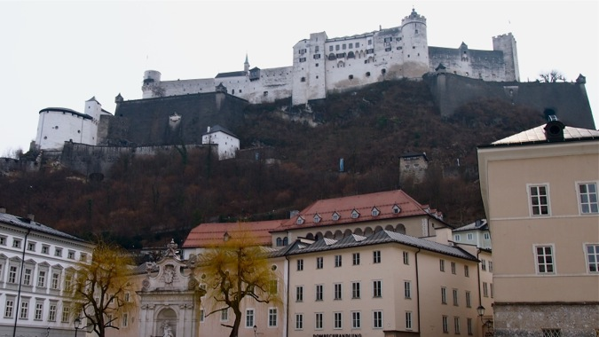 Hohenslazburg Castle panorama