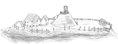 Motte and Bailey Illustration