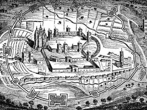 Ricard III, de William Shakespeare. Octubre del 2014 Pontefract_castle_print